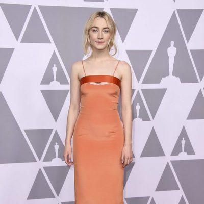 Saoirse Ronan en el almuerzo de los nominados de los Premios Oscar 2018