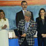 Los Reyes Felipe y Letizia y Lorenzo Caprile en la Entrega de las Medallas de Oro al Mérito en las Bellas Artes 2016
