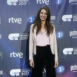 Ana Guerra en la rueda de prensa del final de 'OT 2017'