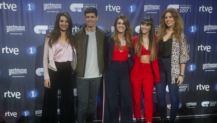 Los finalistas de 'OT 2017' en la rueda de prensa del final del programa