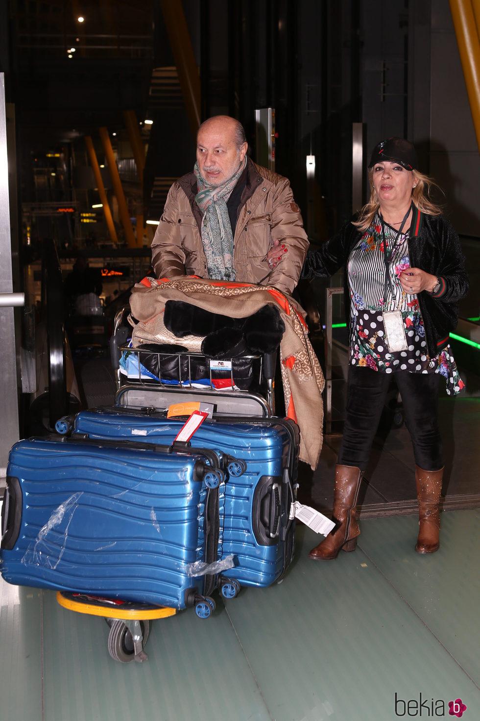 Carmen Borrego y su marido José Carlos a su reencuentro tras el viaje a Chile con 'Las Campos'
