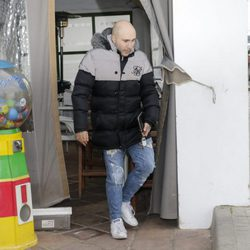 Kiko Rivera saliendo del restaurante en el que celebró su 34 cumpleaños