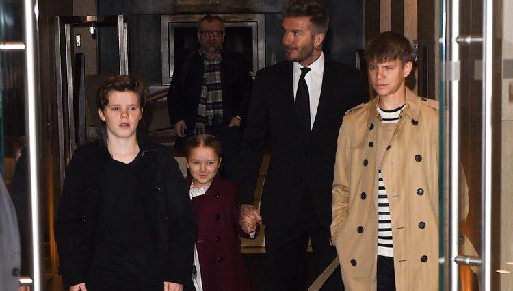 Familia Beckham en la Semana de la Moda de Nueva York 2018