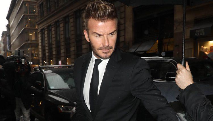David Beckham acude al desfile de su mujer en la NYFW