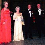 Margarita de Dinamarca, la Reina Isabel, el Duque de Edimburgo y Enrique de Dinamarca
