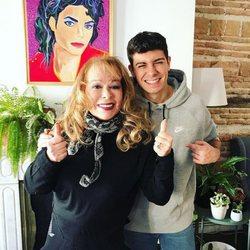 Massiel y Alfred en casa de Los Javis