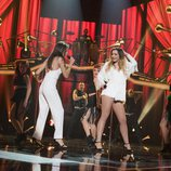 Ana Guerra y Mimi en la fiesta final de 'OT 2017'
