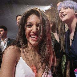Ana Guerra, divertida en la fiesta final de 'OT 2017'