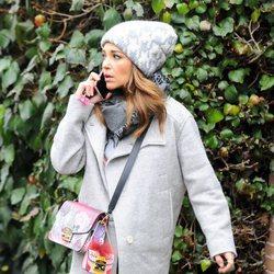 Paula Echevarría de paseo yendo a casa de David Bustamante