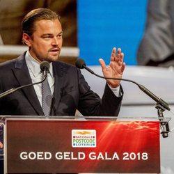 Leonardo DiCaprio en la Goed Geld Gala 2018