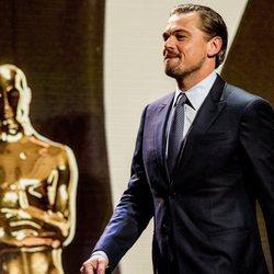 Leonardo DiCaprio sube al escenario en la Goed Geld Gala 2018