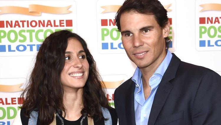 Xisca Perelló mira a Rafa Nadal en la Goed Geld Gala 2018