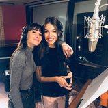 Aitana y Ana Guerra en el estudio grabando 'Lo malo'