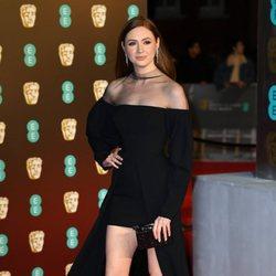 Karen Gillan en la alfombra roja de los Premios BAFTA 2018