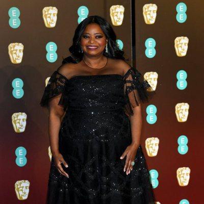 Octavia Spencer en la alfombra roja de los Premios BAFTA 2018