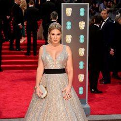 Hofit Golan en la alfombra roja de los Premios BAFTA 2018