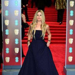 Laura Bailey en la alfombra roja de los Premios BAFTA 2018
