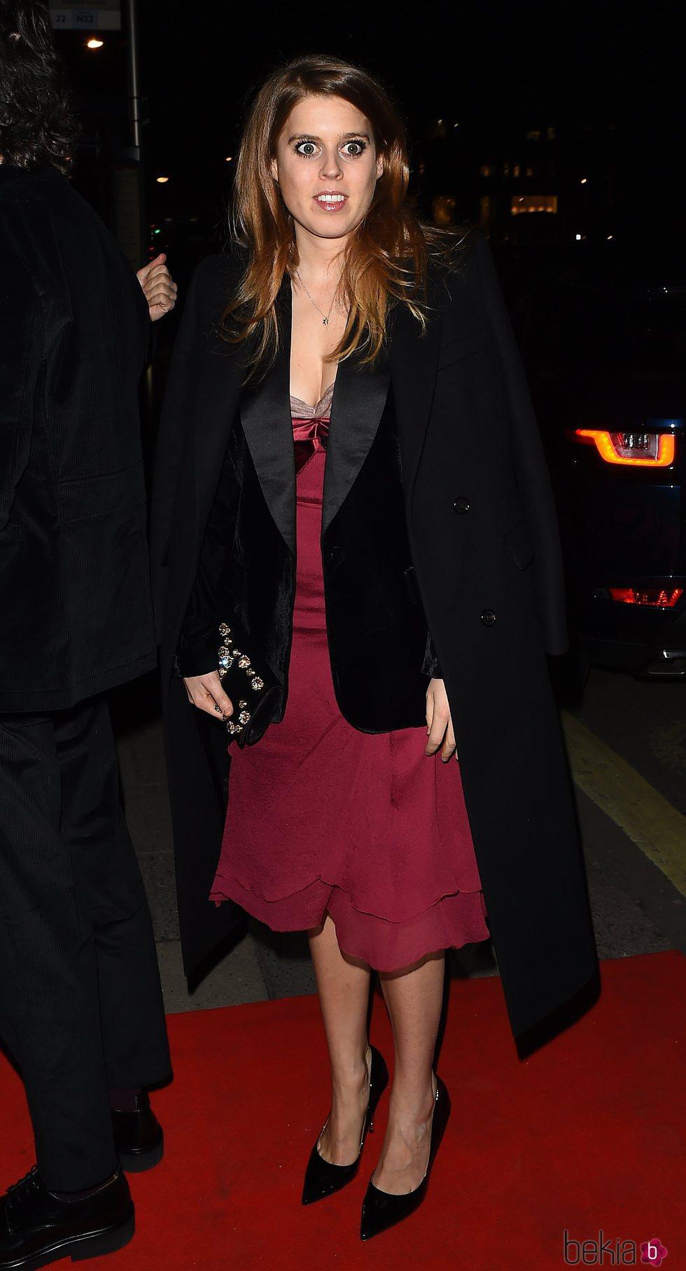 Beatriz de York en la fiesta de Vogue tras los BAFTA