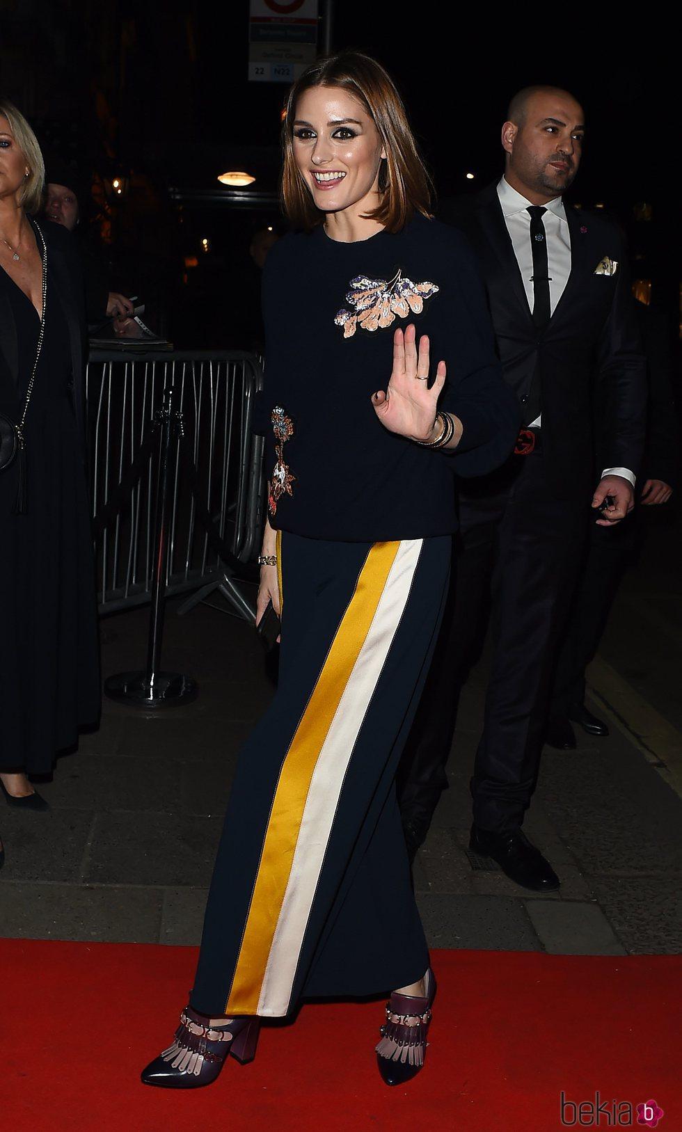 Olivia Palermo en la fiesta de Vogue tras los BAFTA