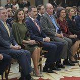 Los Reyes Felipe y Letizia, los Reyes Juan Carlos y Sofía y la Infanta Elena en los Premios Nacionales de Deporte 2016