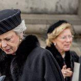 Benedicta de Dinamarca en el funeral de Enrique de Dinamarca