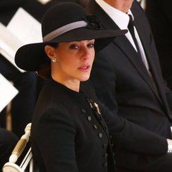 Marie de Dinamarca en el funeral de Enrique de Dinamarca