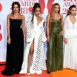 Little Mix en la alfombra roja de los Brit Awards 2018