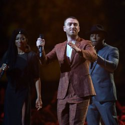 Sam Smith sobre el escenario de los Brit Awards 2018