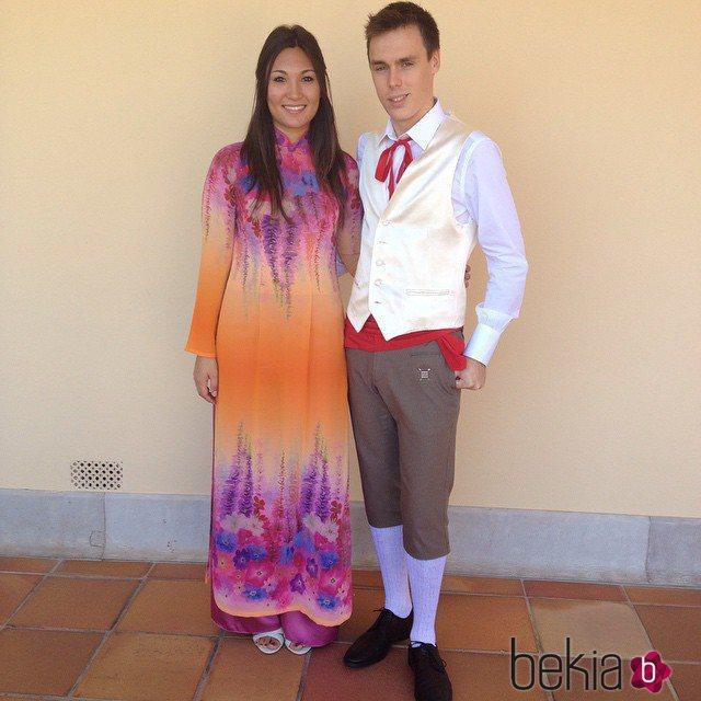 Louis Ducruet y Marie Chevallier en la boda de Pierre Casiraghi y Beatrice Borromeo