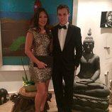 Louis Ducruet y Marie Chevallier en la fiesta por la boda de Pierre Casiraghi y Beatrice Borromeo