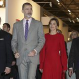Los Reyes Felipe y Letizia en la inauguración de ARCO 2018