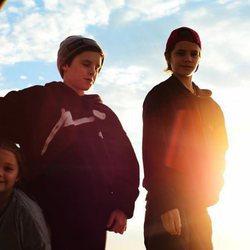 Romeo, Cruz y Harper Beckham fotografiados por su hermano Brooklyn