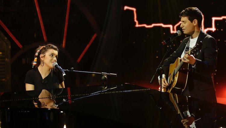 Amaia y Alfred durante su actuación en 'El Hormiguero'