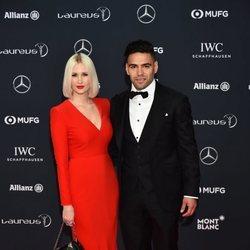 Radamel Falcao y Lorelei Taron en los Premios Laureus 2018
