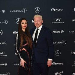 Boris Becker y Lilly Kerssenberg en los Premios Laureus 2018