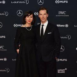 Benedict Cumberbatch y Sophie Hunter en los Premios Laureus 2018