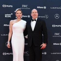 Alberto y Charlene de Mónaco en los Premios Laureus 2018