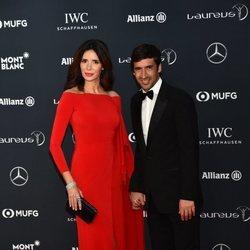 Raúl González  junto a Mamen Sanz en los Premios Laureus 2018