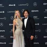 Carles Puyol y Vanessa Lorenzo en los Premios Laureus 2018