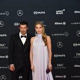 Luis Figo y Helen Svedin en los Premios Laureus 2018