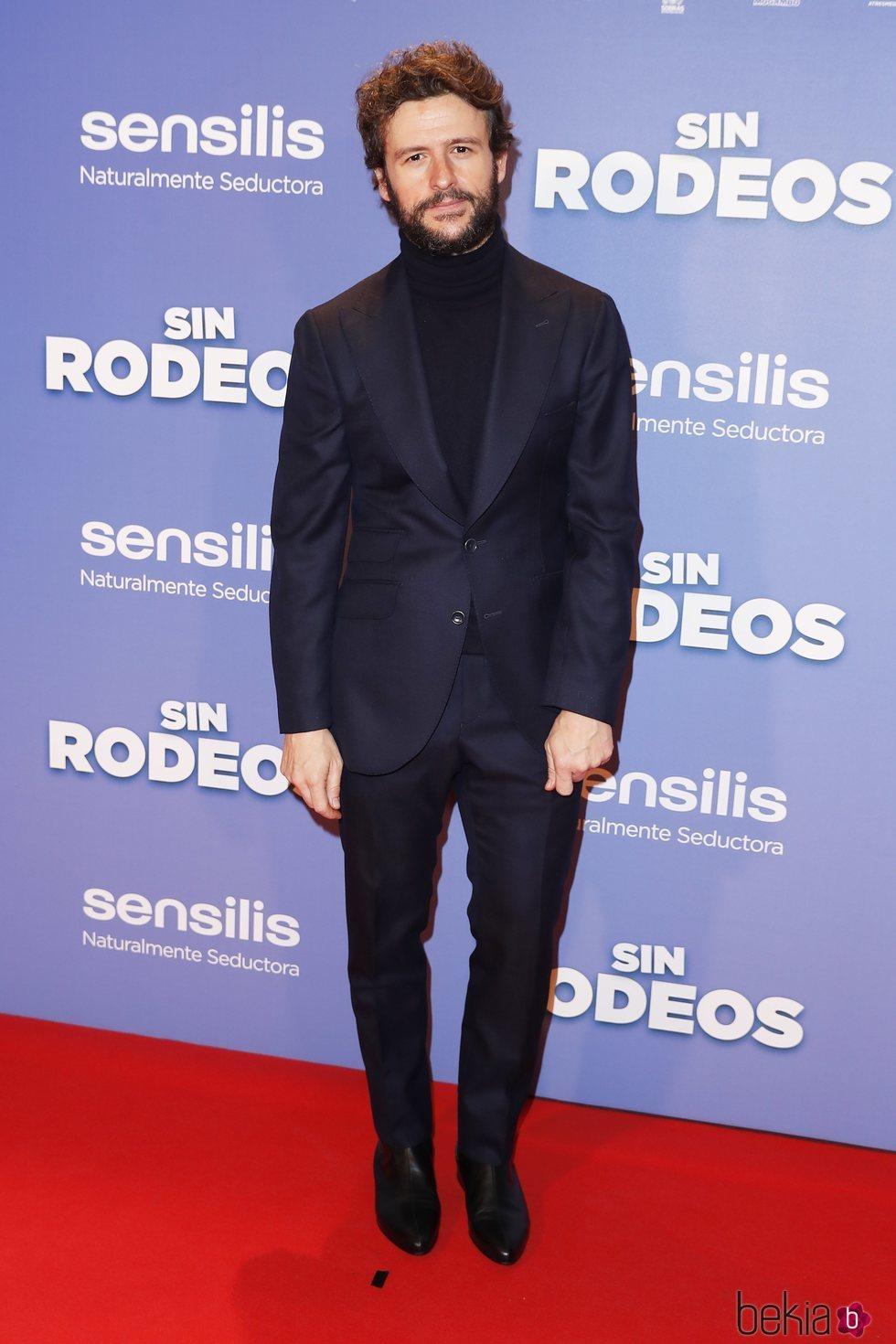 El actor Diego Martín en la premier de la película 'Sin Rodeos'