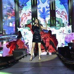 Ana Guerra durante los ensayos del primer concierto de la gira de 'OT 2017'