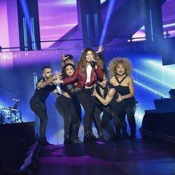 Miriam en el primer concierto de la gira de 'OT 2017' en Barcelona