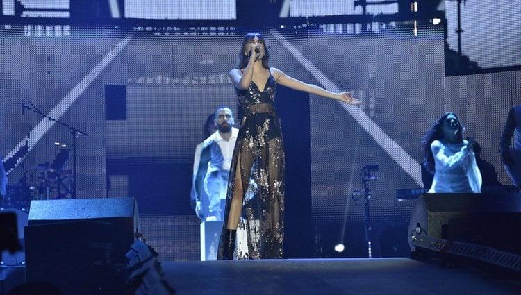 Aitana en el primer concierto de la gira de 'OT 2017' en Barcelona