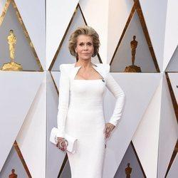 Jane Fonda en la alfombra roja de los Premios Oscar 2018