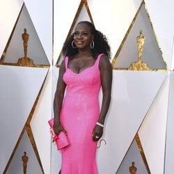 Viola Davis en la alfombra roja de los Premios Oscar 2018