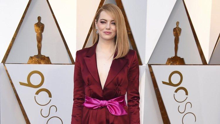 Emma Stone en la alfombra roja de los Premios Oscar 2018