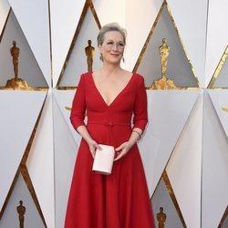 Meryl Streep en la alfombra roja de los Premios Oscar 2018