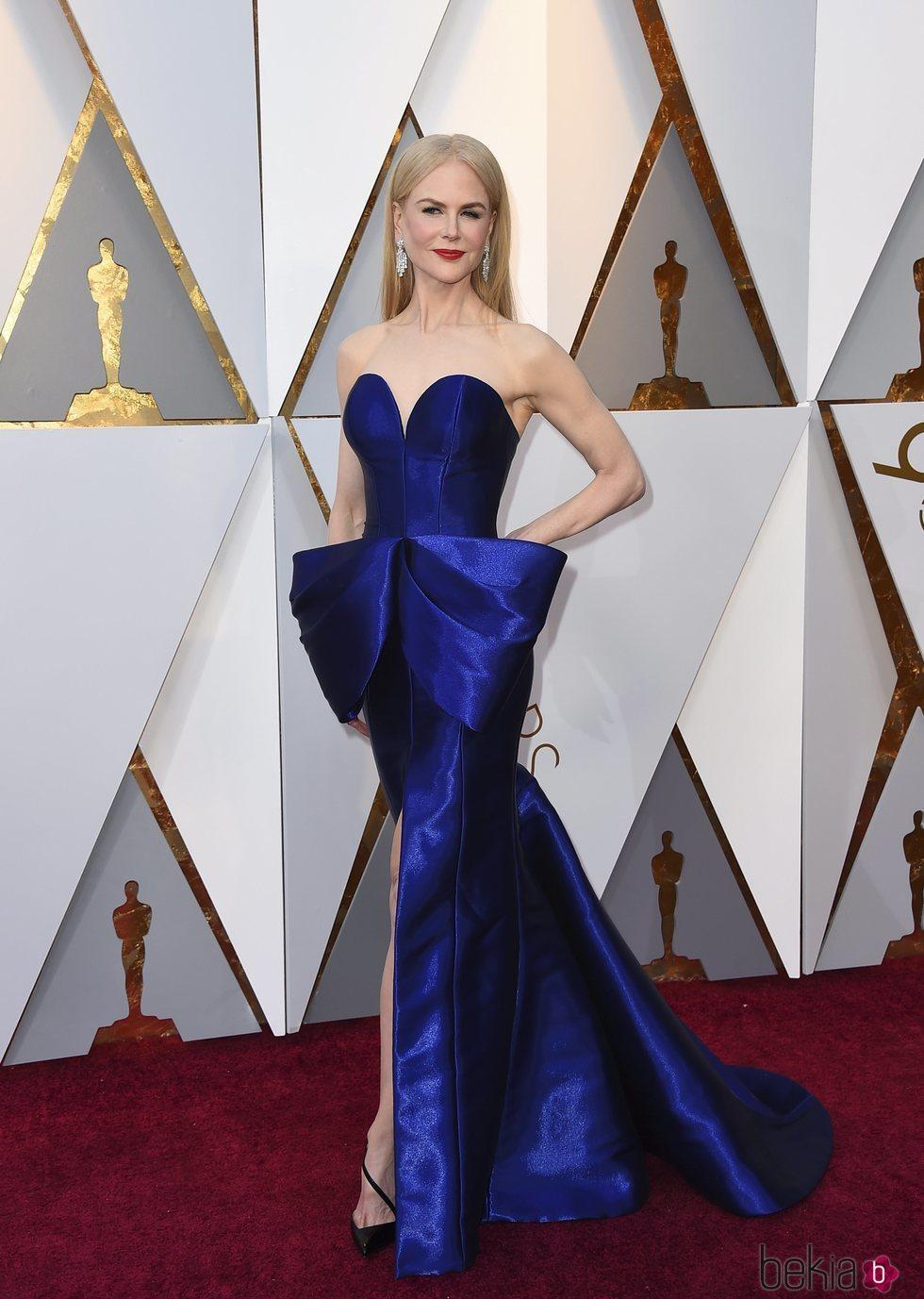 Nicole Kidman en la alfombra roja de los Premios Oscar 2018