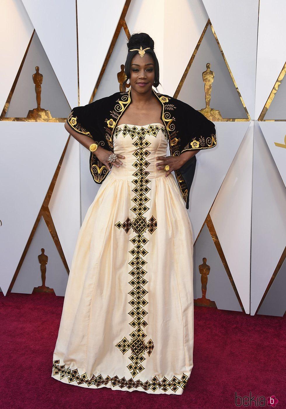 Tiffany Haddish en la alfombra roja de los Premios Oscar 2018